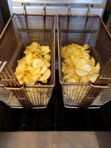 chips fried in organic sunflower oil