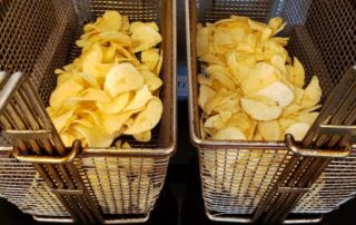 chips fried in organic sunflower oil